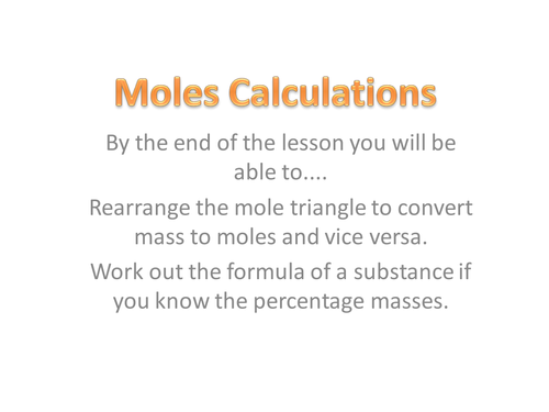 Aqa c3 revision questions by solene01 teaching resources tes calculating moles urtaz Choice Image
