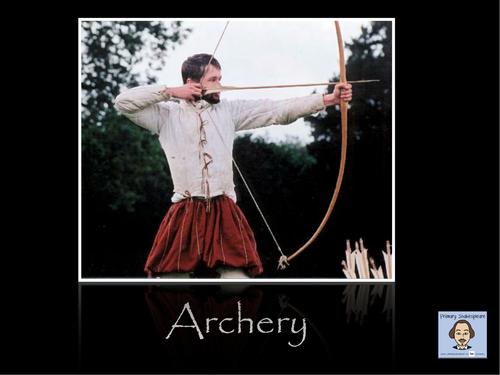 KS1/ KS2 PE - Archery Lesson PowerPoint (Shakespeare Week)