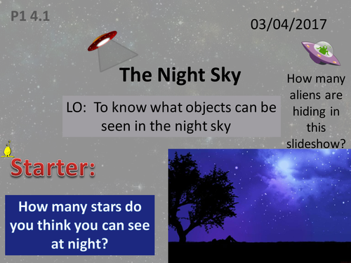 Activate 1:  P1: 4.1  The Night Sky