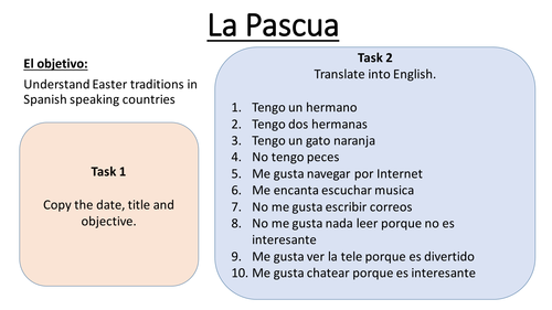 Easter In Spanish Speaking Countries Lesson Teaching Resources