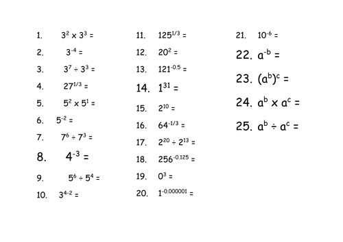 standard form science  Maths for Science - Powers of Indices and Standard Form