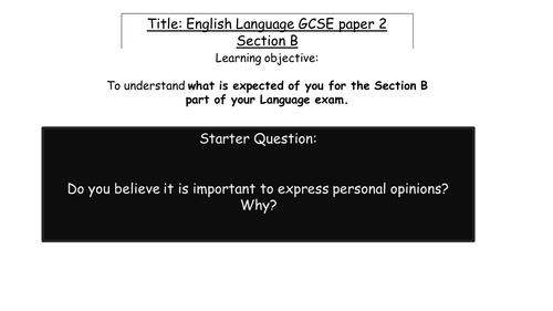 AQA English Language Paper 2 Section B