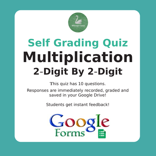 Multiplication Quiz - 2-Digit By 2-Digit (Google Forms)