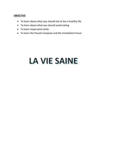 LA VIE SAINE WORKBOOK (HIGHER)