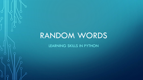 Random Words in Python