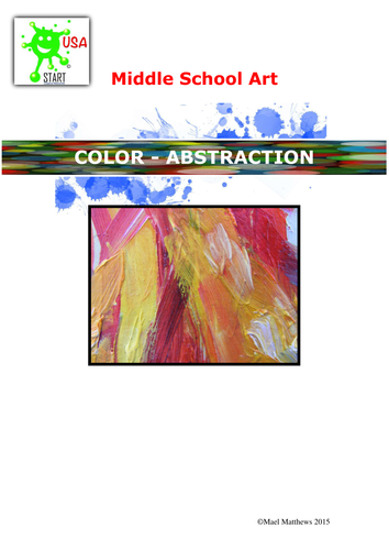Art. Scheme of study. Abstraction and color