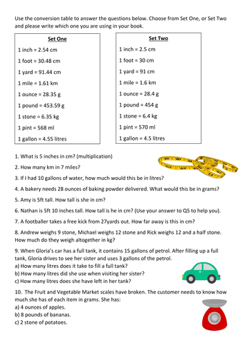Metric And Imperial Word Problems By Lrigby94 Teaching Resources Tes