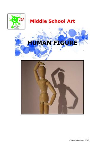 Art. Scheme of study - human figure