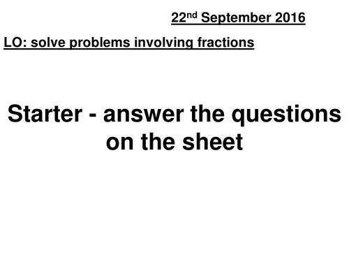 Problem solving with fractions (mixed operations)