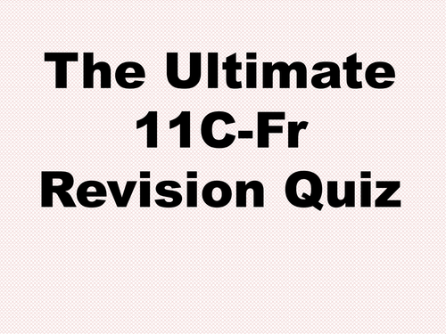 Year 11 French Revision Quiz