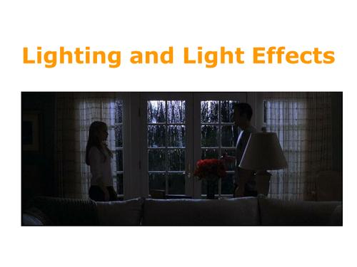 Film Lighting and Colour including film Noir