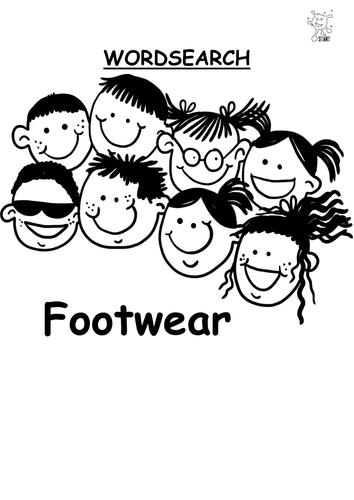 Word Search. Footwear