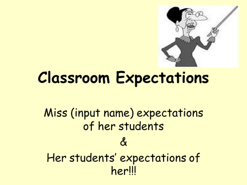 Classroom expectations PPT for inital contact with all new secondary classes.