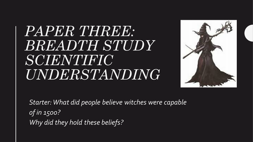 Revision PPT scientific understanding of the witchtrials