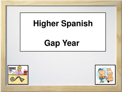 Spanish - Gap Year Vocabulary Notes