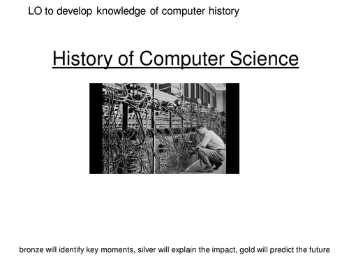 Three engaging year 7 lessons on the history of computing, and the influential people.