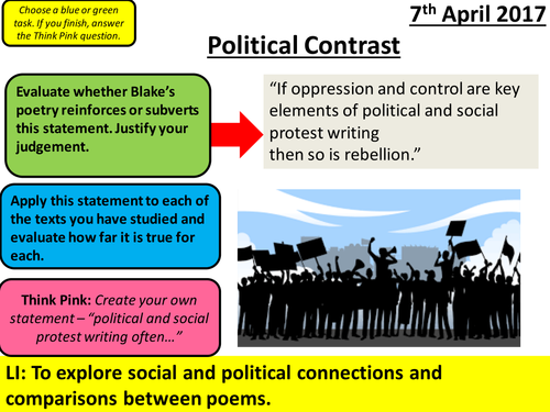 Blake Poetry - Songs of Expereience - AQA Social Protest: A Divine Image and The Human Abstract