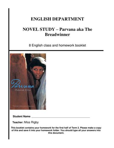 Reading comprehension booklet - Parvana aka The Breadwinner