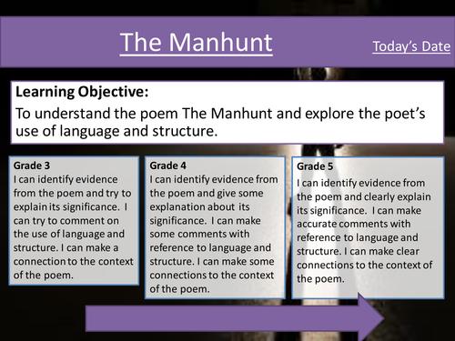 The Manhunt by Simon Armitage- Poem Analysis - Eduqas Poetry Anthology