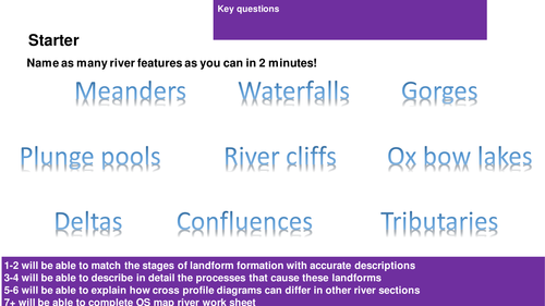AQA Geography 1-9 Rivers Lesson 4: Meanders and Oxbow Lakes