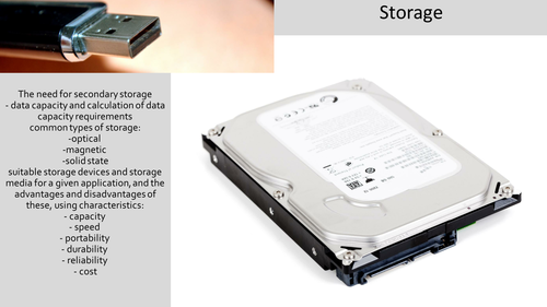 Storage Lesson for OCR Computer Science