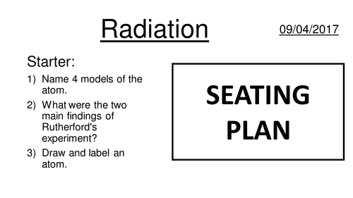 Atomic structure 2 - Alpha Beta and Gamma