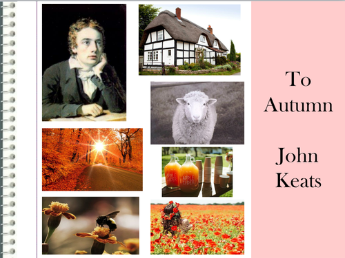 the magnificence of autumn in john keats to autumn To autumn is one of keats' most sensual, image-laden poems it is a sumptuous description of the season of autumn in a three-stanza structure, each of eleven lines, and of an abab rhyme scheme.