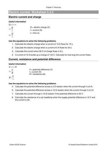 AQA 2017 GCSE Physics Unit 2 Electricity 3 Ohm\'s law by ...