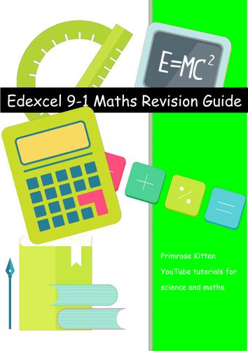 Edexcel GCSE maths. 9-1 spec. Student friendly version of specification statements