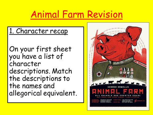 Animal Farm Revision session