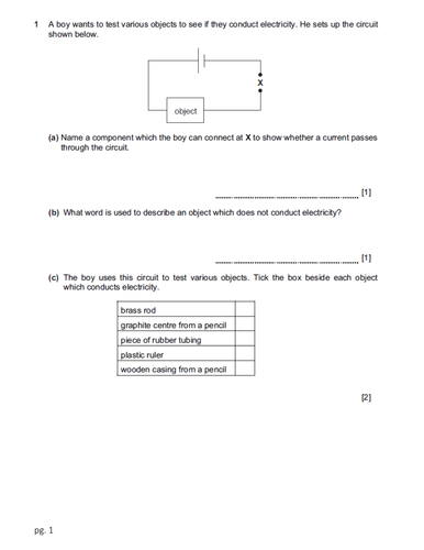 Cambridge Checkpoint Science Paper 2_Physics