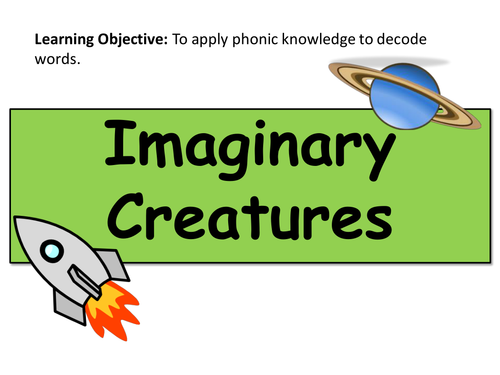 Year 1 Phonics Practice PPT Pack - Real and Imaginary Words