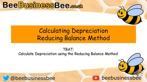 Calculating Depreciation - Reducing Balance Method