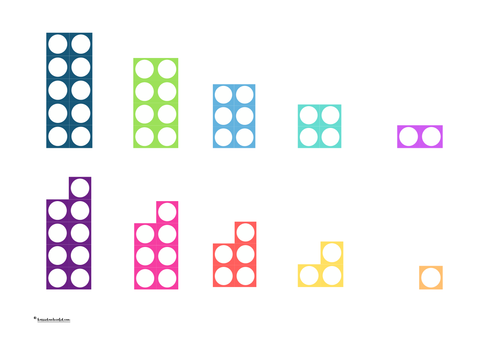 Selection of Numicon style resources - number line, matching, odd/even