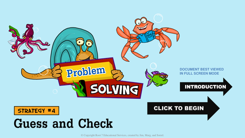 Math Problem Solving Strategies - Guess and Check
