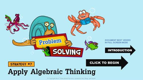 Math Problem Solving Strategies - Apply Algebraic Thinking