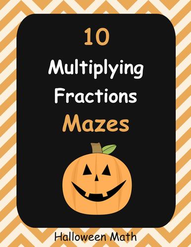 Halloween Math: Multiplying Fractions Maze