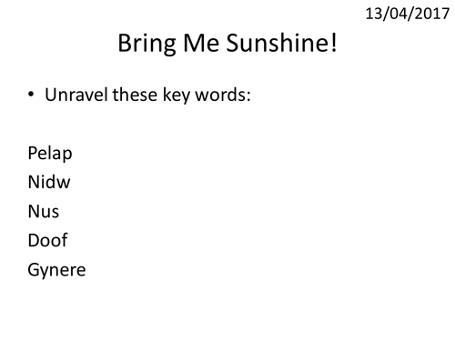 Energy 7 - Bring me sunshine! - jho