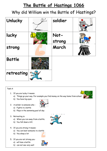 EAL/SEN/Primary Reasons why William won the Battle of Hastings 1066