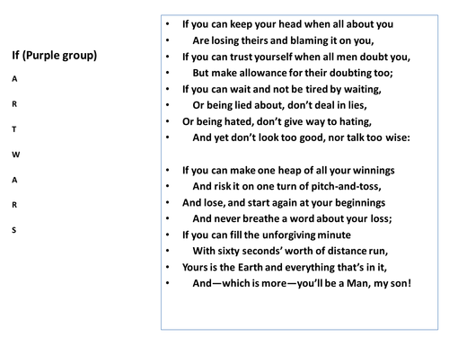 Poetry analysis practice & revision - useful for unseen poetry preparation  KS3 KS4 - The Tyger - If