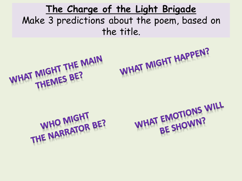 essay on charge of the light Read the essay below tennyson uses a traditional ballad form to illustrate the true story of the charge of the light brigade.