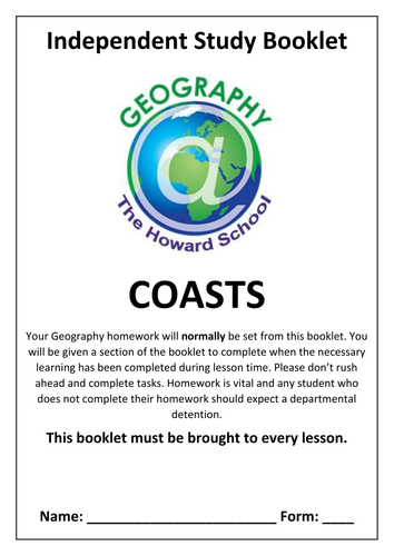 KS3 Coasts Homework Booklet