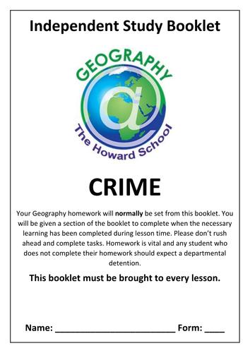 KS3 Crime Homework Booklet