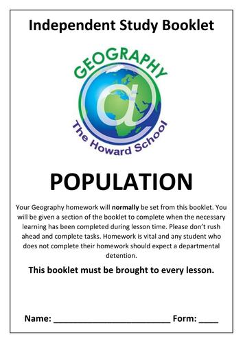 KS Population Homework Booklet