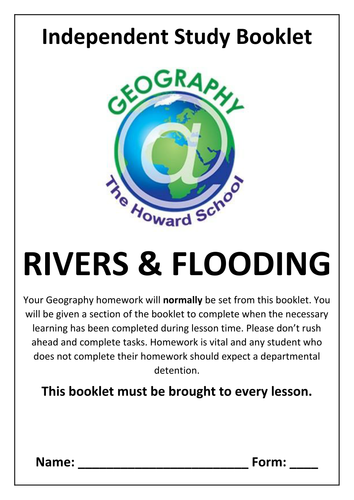 KS3 Rivers and Flooding Homework Booklet