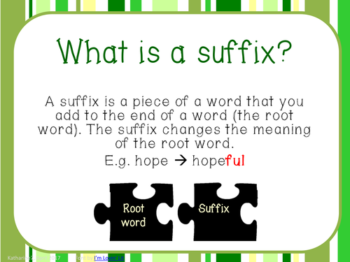 Year 2 suffixes presentation and practise examples