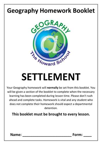 KS3 Settlement Homework Booklet