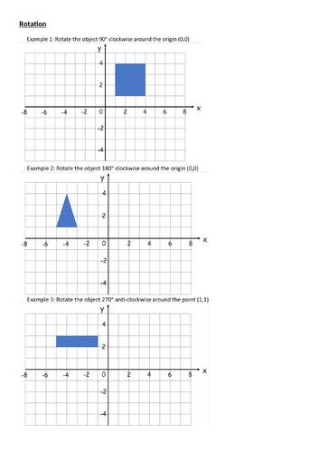 Rotation Lesson & Worksheet