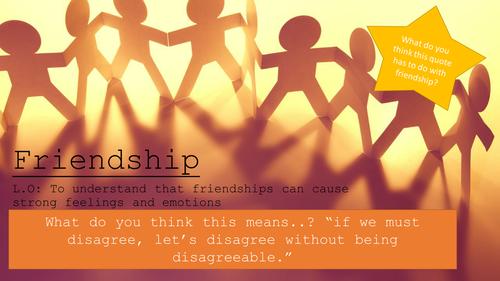 Friendship (Yr 7 SRE)