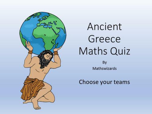 Ancient Greece Maths Power Point Quiz